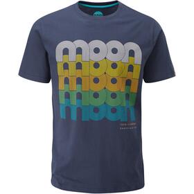 Moon Climbing Fade Logo T-Shirt Men moon indigo